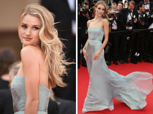 Rochie superbă la Rosie Huntington-Whiteley, Foto: thenewstepup.blogspot.ro