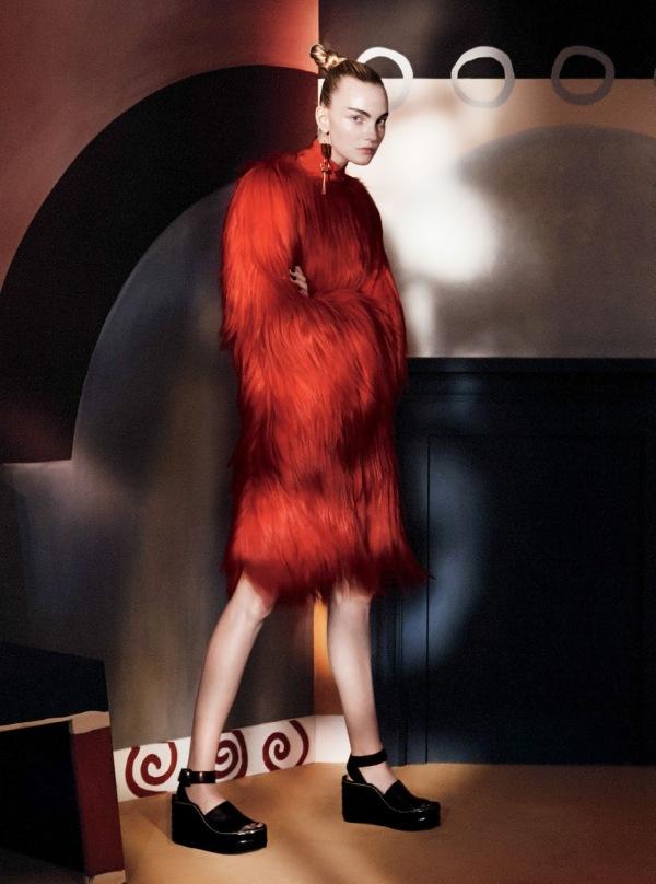 Haină de blană la modă în acest sezon, Foto: visualoptimism.blogspot.ro