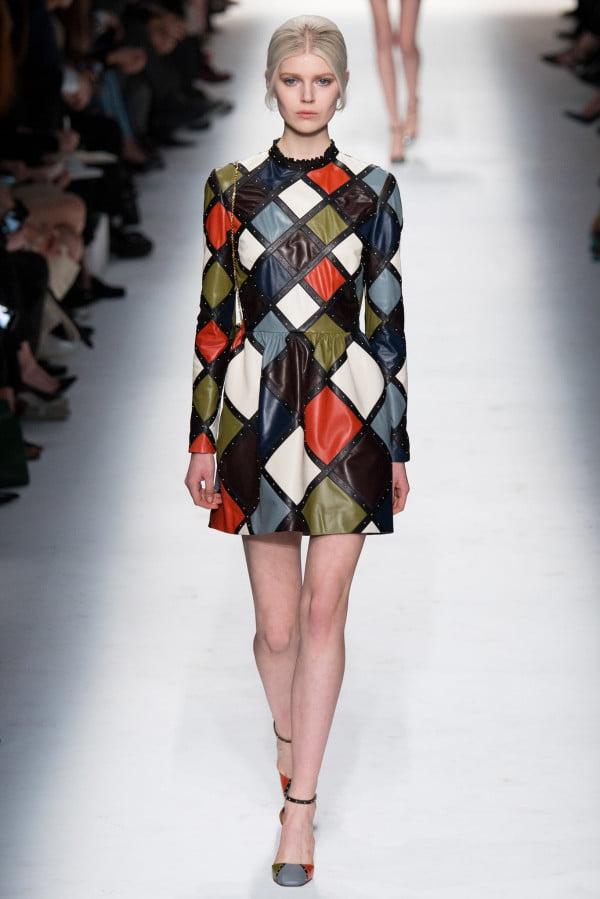 Rochie în carouri confecționată din piele, Foto: wardrobelooks.com