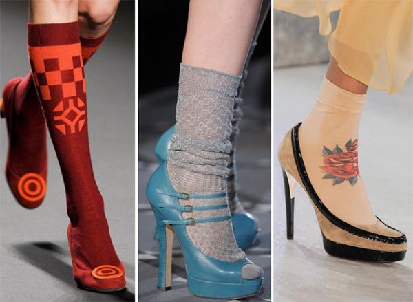 Modele de șosete și pantofi la modă în toamna-iarna 2014-2015, Foto: flooks.net