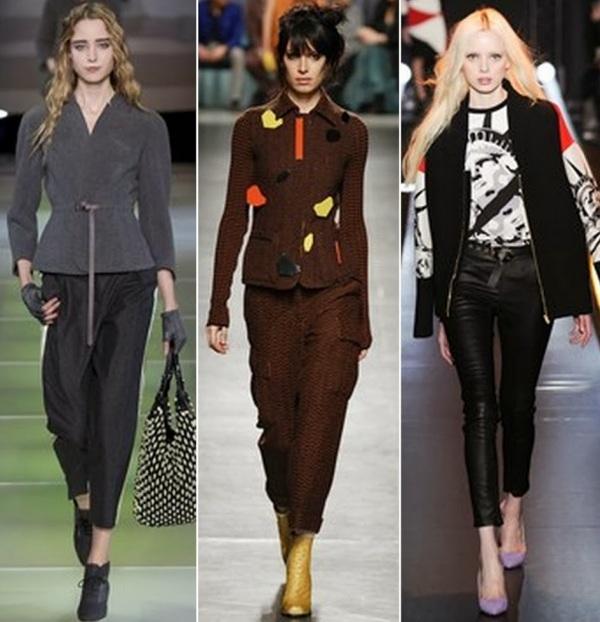 Pantaloni marca Giorgio Armani, Missoni and Fausto Puglisi, Foto: bellesavenuexo.blogspot.ro