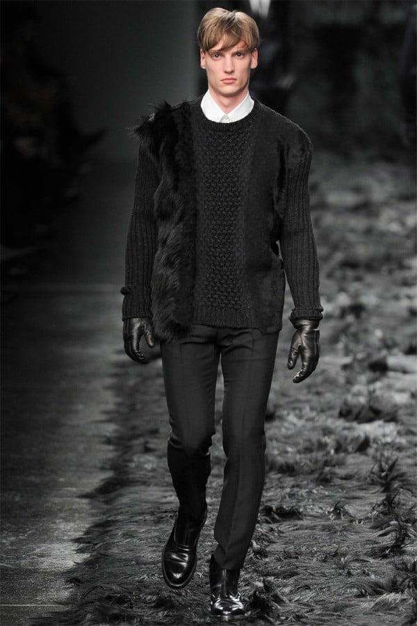 Mănuși elegante din piele neagră, Foto: thebestfashionblog.com