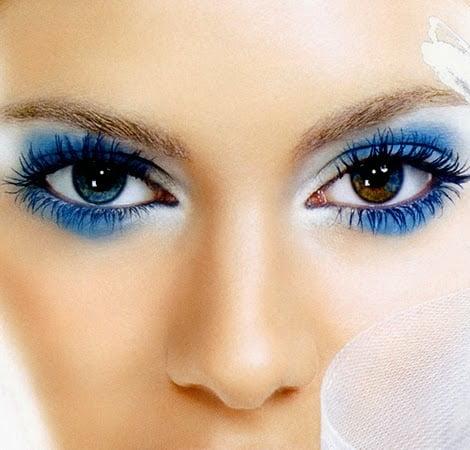 Machiaj de seară deosebit pentru ochi albaștri, Foto: bumimmusese.blogspot.ro