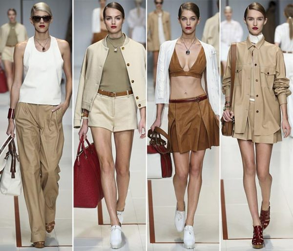 Alb, bej, crem, ciocolatiu, bordo în colecția Trussardi, Foto: fashionisers.com