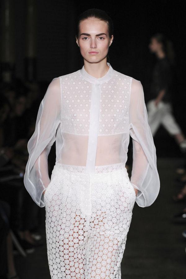 Bluză din tulle alb, Foto: sistyle.ch