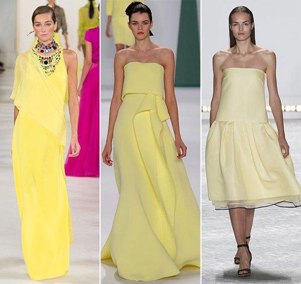 Galben pal în tendințele modei din anul 2015, Foto: phunuonline.com.vn