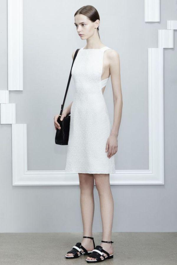 Rochie albă și accesorii negre, colecția Jason Wu, Foto: stylevitae.com