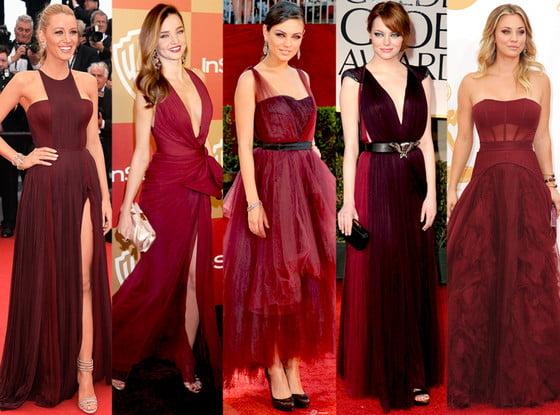 Marsala, culoarea folosită de vedetele de la Hollywood, Foto: uk.eonline.com