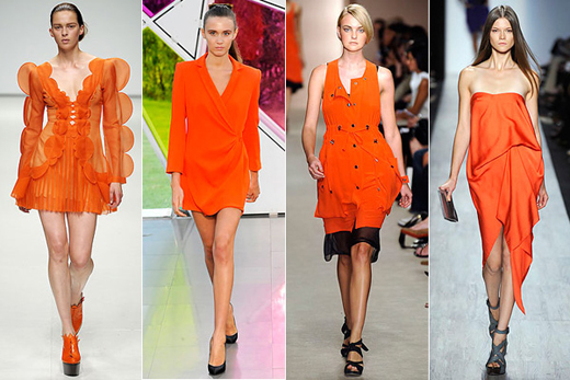 Moda în culoarea portocaliu, Foto: modamode.ru