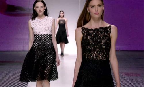 Rochie din dantelă albă și neagră, Foto: fashionbashon.com