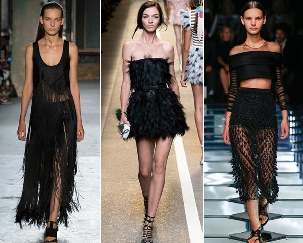 Moda cu franjuri în negru, Foto: daria-vais.ru