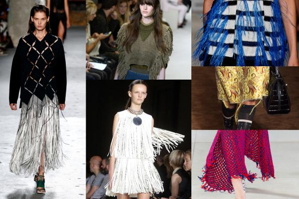 Moda cu franjuri, creații Proenza Schouler, Sonia Rykiel, Thakoon, Prada, Celine, Giambattista Valli, Foto: racked.com