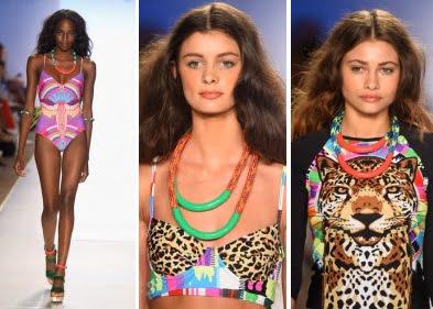 Costume de baie cu imprimeu inspirat din junglă, Foto: allthingshallee.com