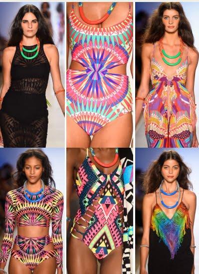 Costume de baie cu printuri africane, Foto: allthingshallee.com
