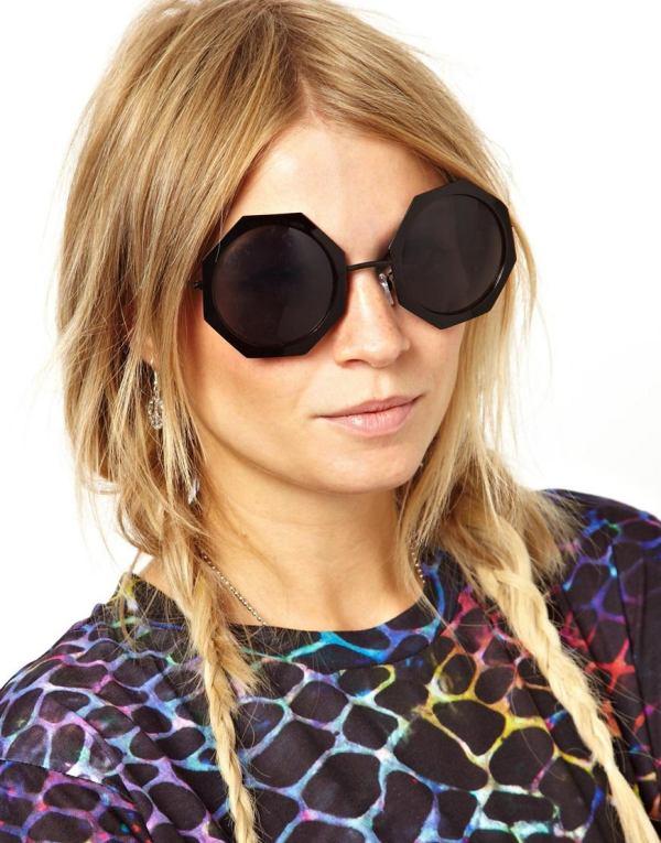 Ochelari cu ramă hexagonală, Foto: asos.fr