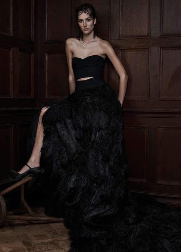 Rochie neagră pentru mireasă creată de Vera Wang, Foto: elitemodelcopenhagen.wordpress.com