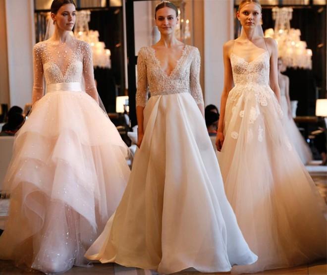 Rochii pentru mireasă, colecția Monique L'huillier Bridal, Foto: fashionisers.com