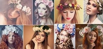 Coafuri cu flori în păr, Foto: vk.com