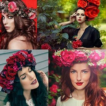 Coronițe cu flori pentru păr, Foto: vk.com