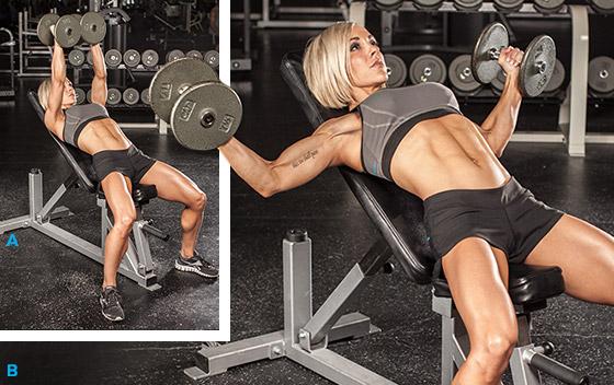 Balansul greutăților din poziția culcat pe banca orizontală (abducție - adducție brațe), Foto: herintalk.com