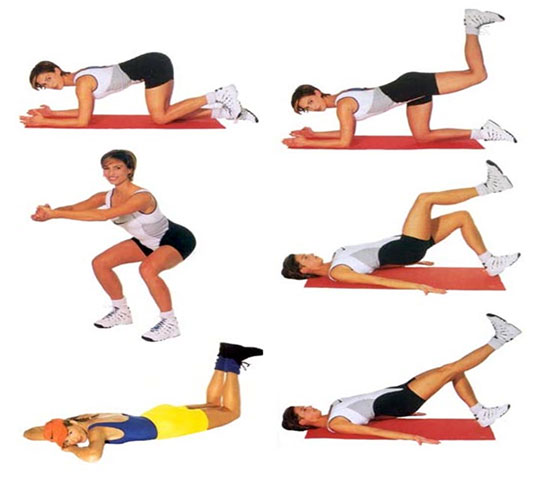 Exercițiu pentru partea musculară a șoldurilor, Foto: azbukadiet.ru