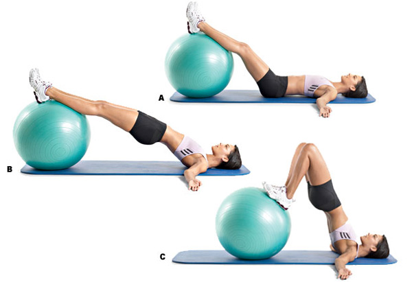 Exerciții cu mingea de fitball, Foto: leanitup.com