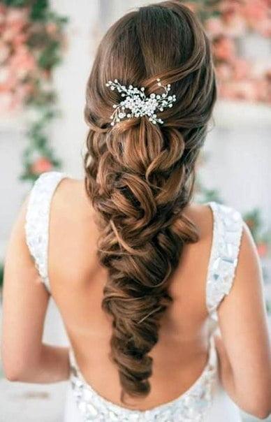 Coafură elegantă pentru mireasă, Foto: vk.com