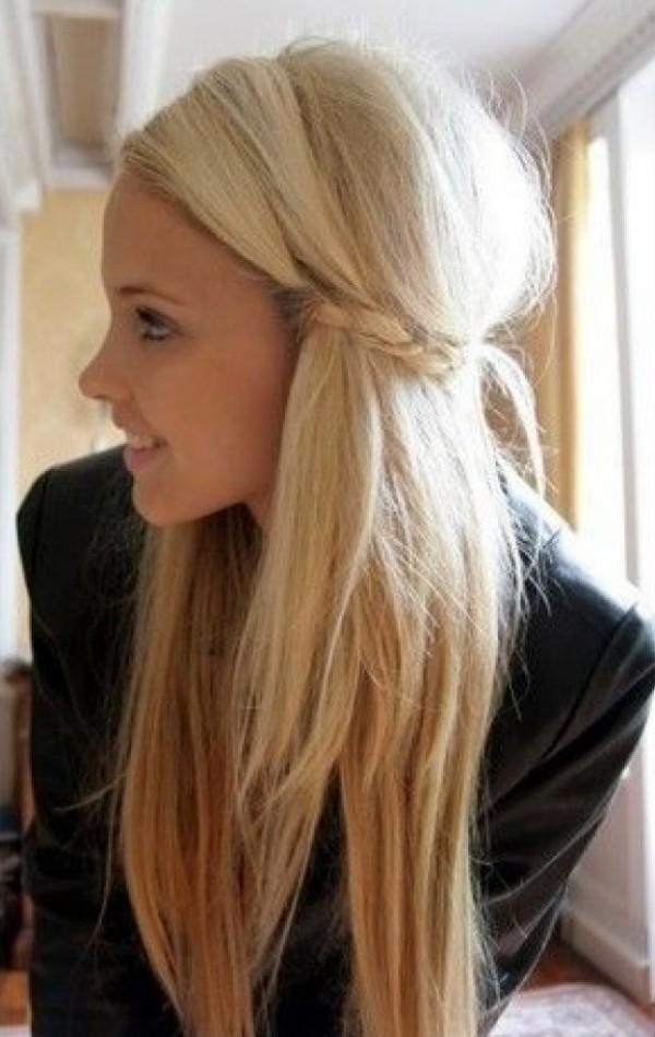 Coafură simplă romantică, Foto: feral-heart.com