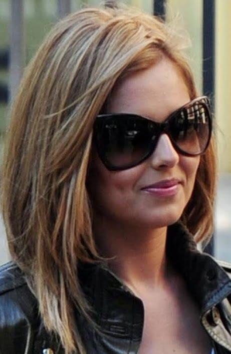 Coafură modernă pentru păr mediu, Foto: mediumhairstylespins.net