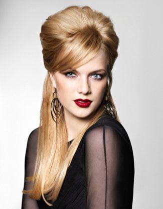 Coafură retro pentru păr blond, Foto: sunny-angel.ru