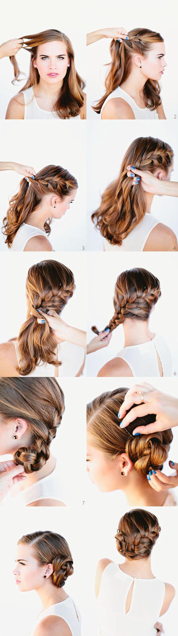 Coafură deosebită cu părul împletit, Foto: fashiondivadesign.com