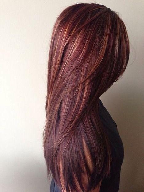 Păr roșcat îndreptat cu placa, Foto: wavygirlhairstyles.com