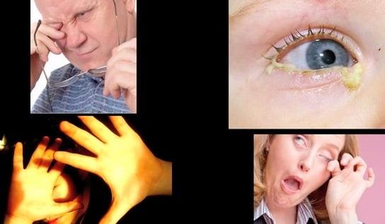 Simptomele ulcerului cornean