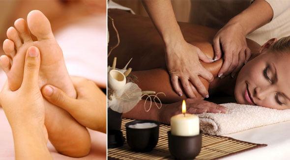 Masajul corpului combinat cu masajul tălpilor picioarelor, Foto: mari-jari.com