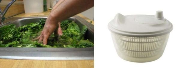 Salata se spală și apoi se scurge bine de apă, Foto: slideshare.net