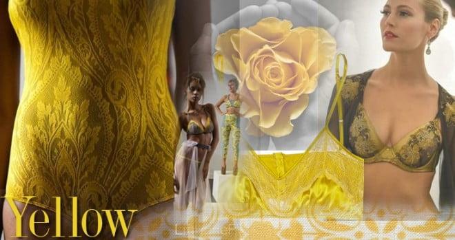 Galben în tendințele modei în acest an, Foto: belle-lingerie.co.uk