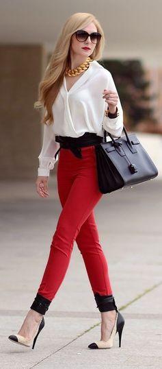 Pantaloni eleganți, Foto: shiny-sequins.blogspot.ro