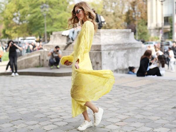 Rochia galbenă în tendințele modei în acest an, Foto: afamily.vn