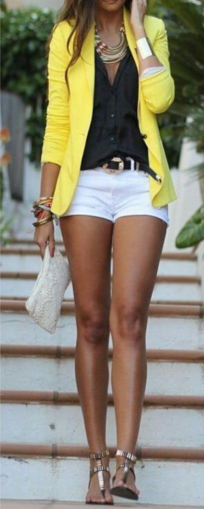 Sacou galben în tendințele modei, Foto: haya-online.com