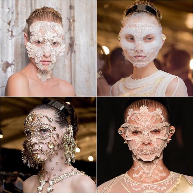 Bijuterii faciale în colecția Givenchy, Foto: brit.co
