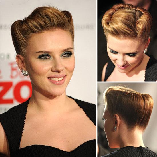 Coafură Victory Rolls la Scarlett Johansson, Foto: trendygirlnyc.blogspot.com