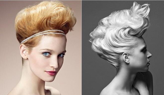 Coafură cu părul tapat, frumos coafat, Foto: school120.ru
