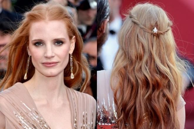 Coafură deosebită pentru păr lung, Foto: weddingomania.com