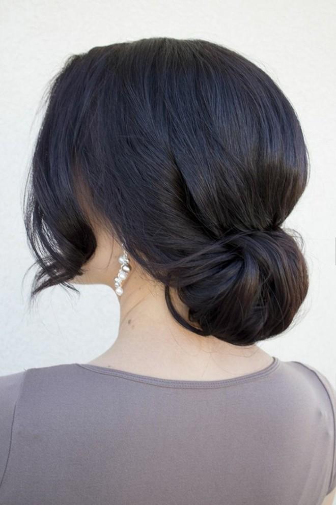 Coafură fină cu părul prins în coc, Foto: archzine.fr
