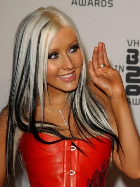 Coafură la Christina Aguilera, Foto: see2me.ru