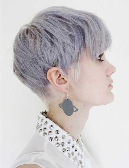 Coafură modernă în nuanță de gri, Foto: fashionqe.com