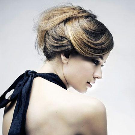 Coafură simplă și elegantă pentru petrecere, Foto: fashionspassion.com
