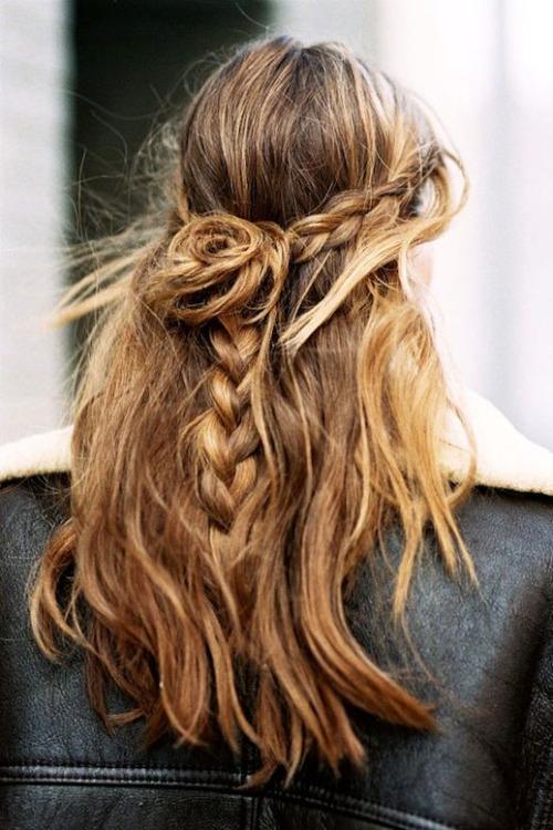 Coafură tinerească pentru păr lung, Foto: thechicdepartment.tumblr.com
