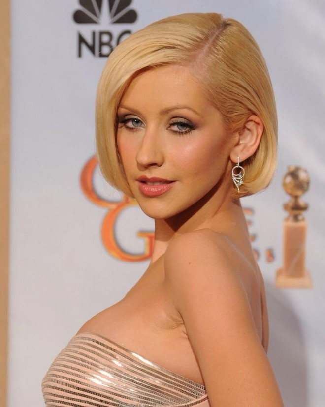Coafură bob la Christina Aguilera, Foto: afterld.com