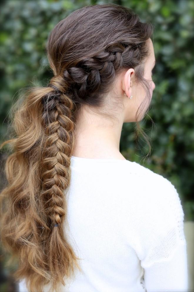 Coafură cu părul împletit, Foto: galleryhip.com